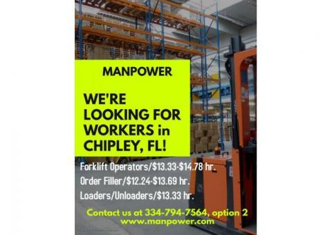 Forklift Operators in Chipley, FL