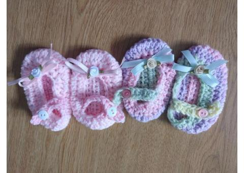 Crocheted baby items