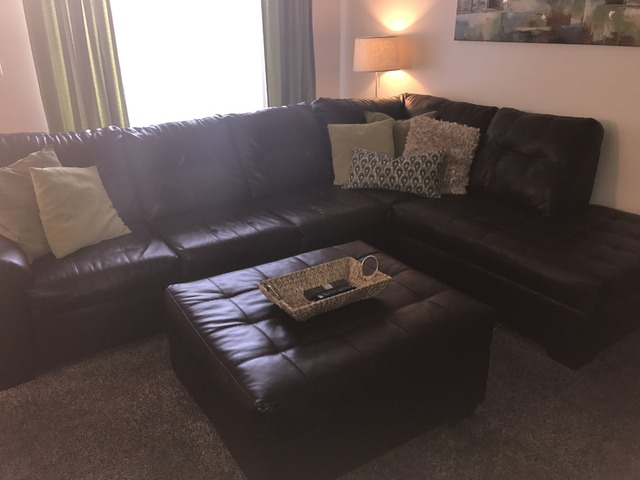Brown leather sectional in bourbonnais kankakee county for Furniture kitsap county
